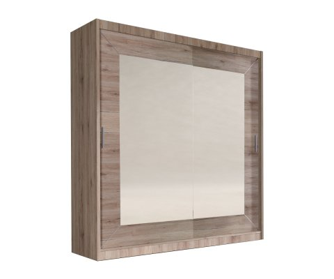 Alfa 2 Door Wardrobe Armoire with Mirror
