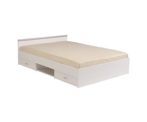 Alpha Drawer Full Storage Panel Bed