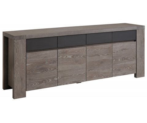 Bristol Gray French Oak Sideboard with 4 Doors