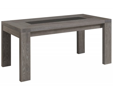 Bristol Gray French Oak Dining Table with Extensions