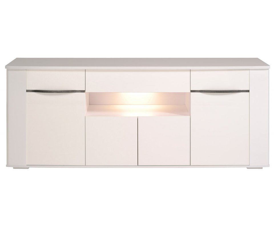 Ceram High Gloss White Buffet with Drawers and LED : Ceram 4 Door Buffet With Led 1 960x800 from www.roomsmart.com size 960 x 800 jpeg 35kB