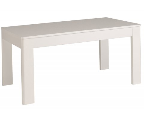 Ceram High Gloss White Table with Extension
