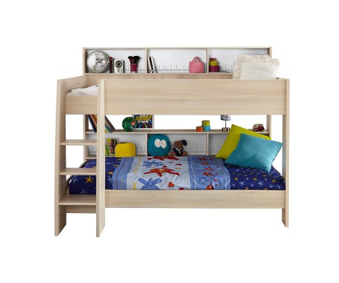 Charley Bunk Twin Over Twin Bed With Trundle 2 Mattresses Included