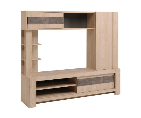 Chris TV Wall Unit with Sliding Doors
