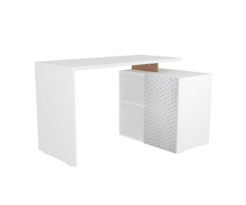 Christelle White Corner Desk