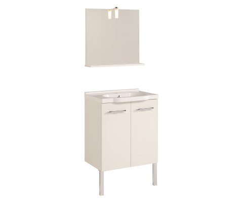 Dana Vanity Set with Ceramic Sink and Wall Mirror 2
