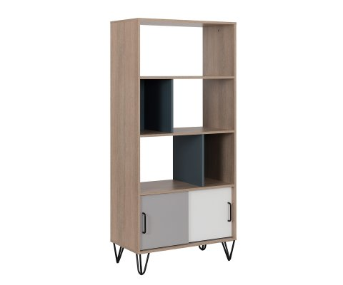 Mandy Bookcase with 2 Sliding Doors
