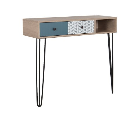 Glena Console Table with Wire Legs