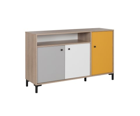 Kristian Sideboard with 2 Sliding Doors and 1 Hinged Door