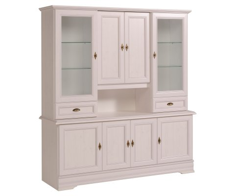 Elise Sideboard with Glass Door Hutch Top