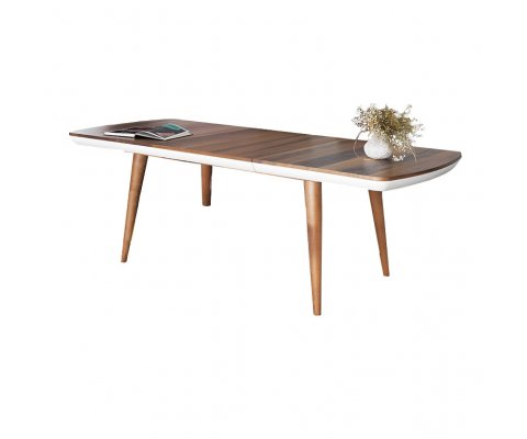 Erato Modern Walnut Dining Table With Extension