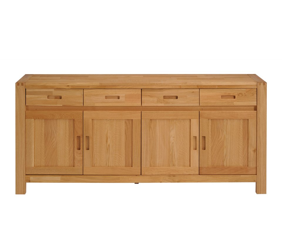 ethan french oak sideboard with 4 doors and 4 drawers. Black Bedroom Furniture Sets. Home Design Ideas