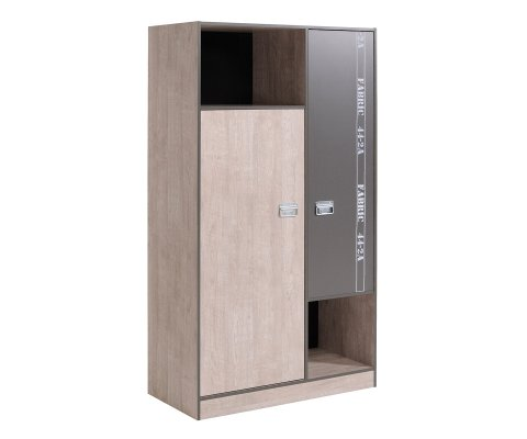 Fabric 2 Door Wardrobe Cabinet