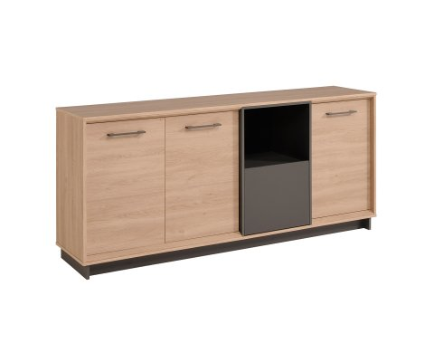Feel Sideboard with 3 Doors, 1 Open Shelf and 1 Drawer