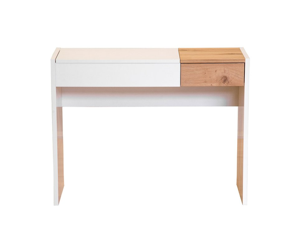 Fougueuse dressing table with hidden mirror and desk