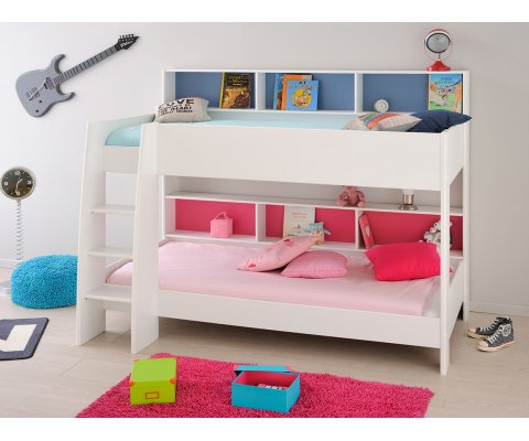 Leo Bunk Twin Over Twin Bed with Trundle (2 Mattresses included)