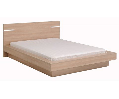 Life Natural Queen Platform Bed With LED