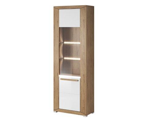 Lumi 1 Door Glass Cabinet with Shelves