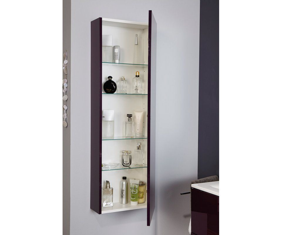 luxy ii bathroom 48 tower wall cabinet storage with shelves. Black Bedroom Furniture Sets. Home Design Ideas