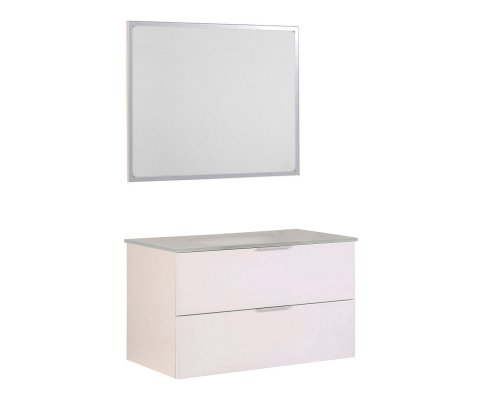 "Luxy 36"" Bathroom Vanity with Glass Sink and Mirror"
