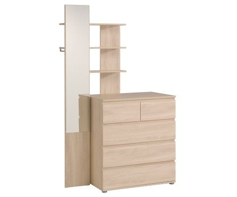 Mallow 5 Drawer Dresser with Mirror Extension