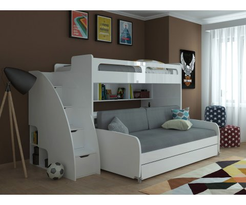 Bel Mondo - Twin Bunk Bed with Sofa, Table and Trundle