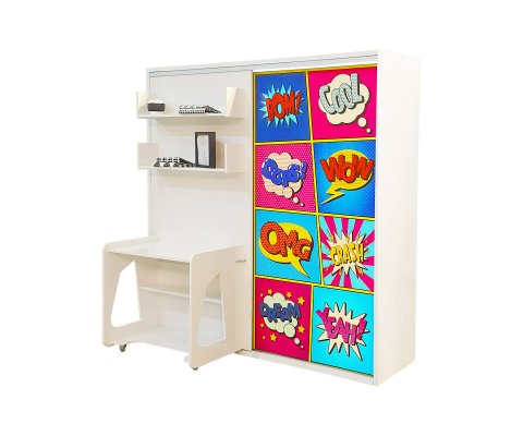 Studio 5 Twin Wall bed system with desk