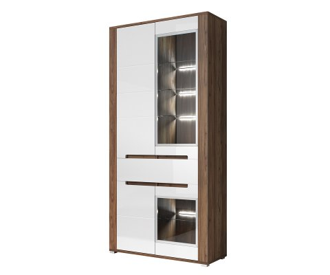 Neapoli Glass Door Storage Cabinet