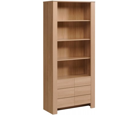 Nolita Open Shelves Bookcase with Drawers