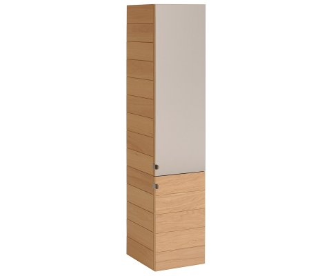Oslo Natural Oak Bathroom Wall Storage Cabinet