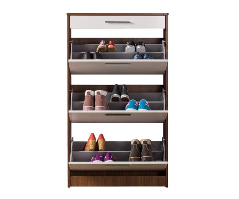 Shoe Cabinet 3 Section 1 Drawer