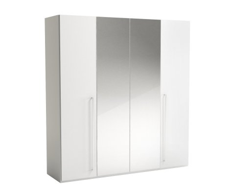 Caprice 4 Door Wardrobe with Mirror