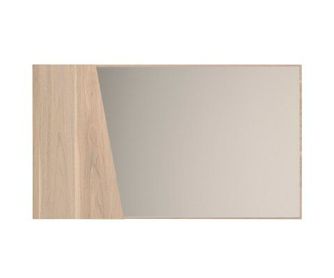 Swen Light Wood Wall Mirror
