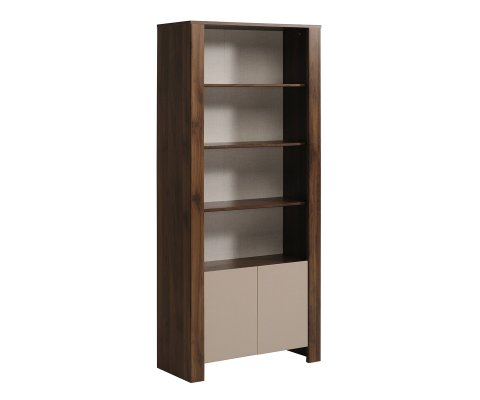 Tiago Open Shelves Bookcase with Drawers