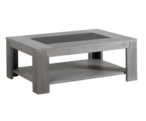 Titan Gray French Oak Coffee Table