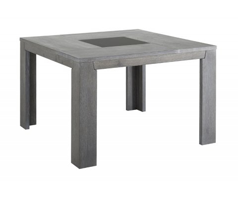 Titan Gray French Oak Square Dining Table