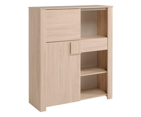 Warren Oak Dishes Cabinet