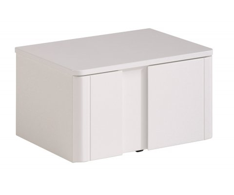 Wesley High Gloss White Drawer Nightstand