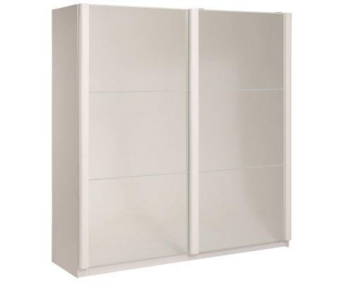 "Wesley High Gloss White 79"" Wide 2 Door Wardrobe"
