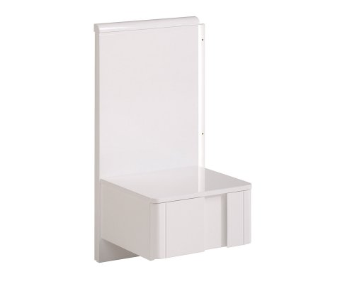Wesley High Gloss White Bedside Night Table